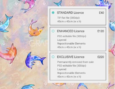 fashion print license prices